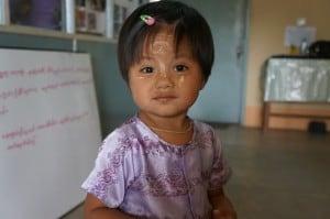 Happy Burmese child