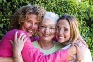 three generations of woman