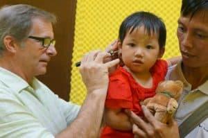 pediatric hearing exam