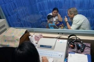 Doctor And Patients In Sound Proof Booth