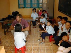 children sitting waiting
