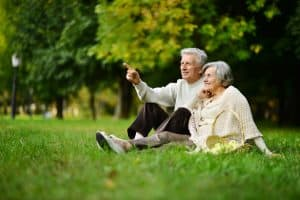 Old Couple in Field