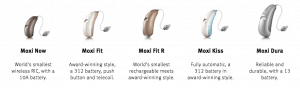 Moxi Line of Hearing Aids
