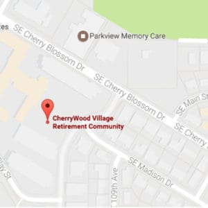 Map Image of Cherry Wood Village Retirement Community