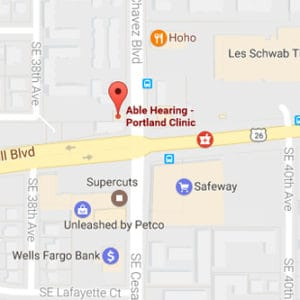 Map Image of Able Hearing Portland Clinic